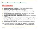 socios partenaires partners parceiros