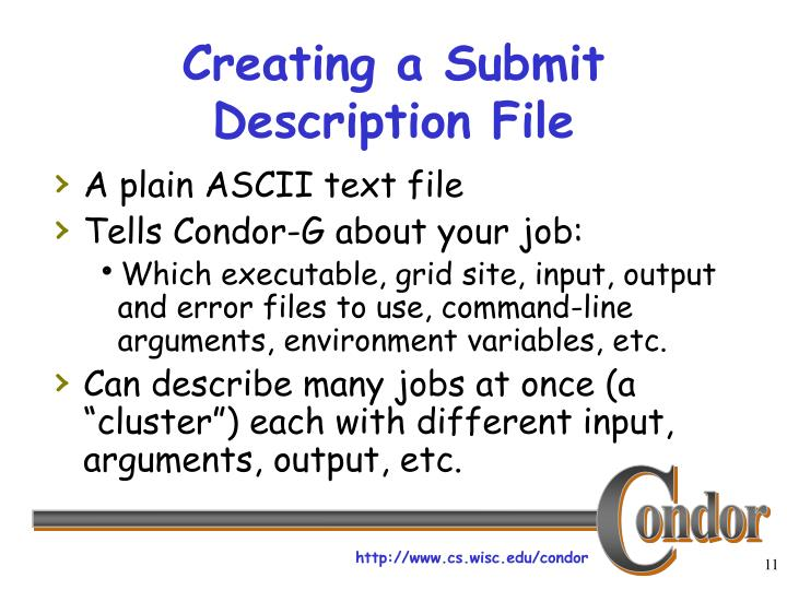 Creating a Submit Description File