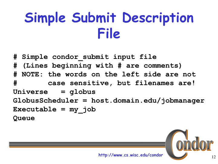 Simple Submit Description File