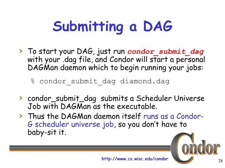 Submitting a DAG