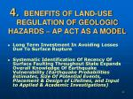 benefits of land use regulation of geologic hazards ap act as a model