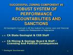 successful zoning component 6 robust system of performance accountabilities and sanctions
