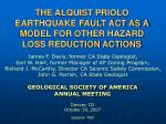 the alquist priolo earthquake fault act as a model for other hazard loss reduction actions