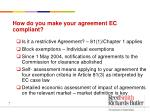 how do you make your agreement ec compliant