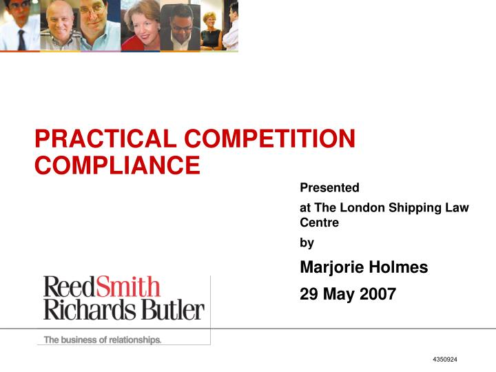 presented at the london shipping law centre by marjorie holmes 29 may 2007 n.