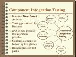 component integration testing
