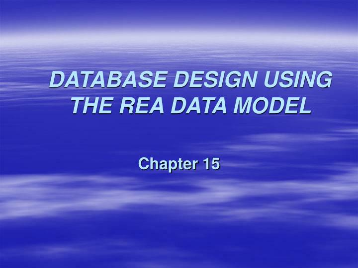 database design using the rea data model n.