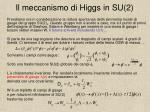 il meccanismo di higgs in su 2