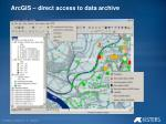 arcgis direct access to data archive