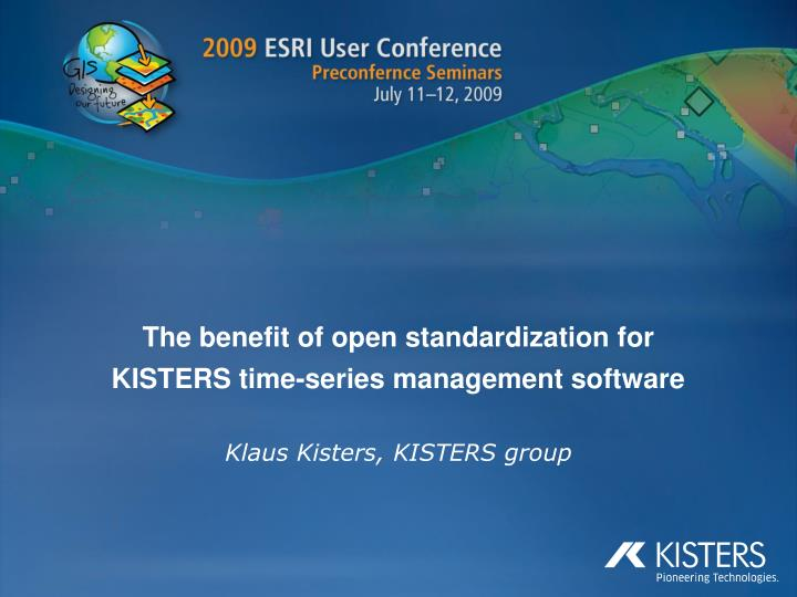 the benefit of open standardization for kisters time series management software n.