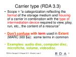 carrier type rda 3 3
