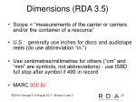 dimensions rda 3 5