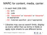 marc for content media carrier