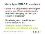 media type rda 3 2 not core