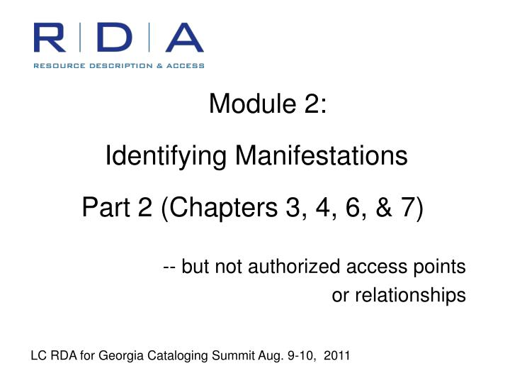 module 2 identifying manifestations part 2 chapters 3 4 6 7 n.