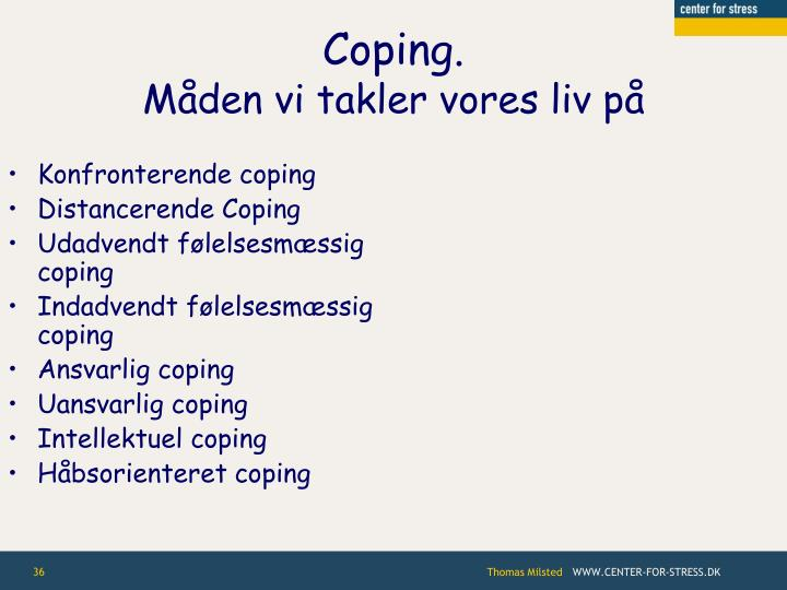 Coping.