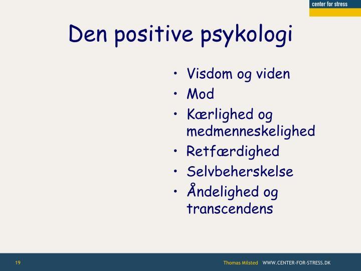 Den positive psykologi