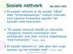 sosiale nettverk b 2000 178ff