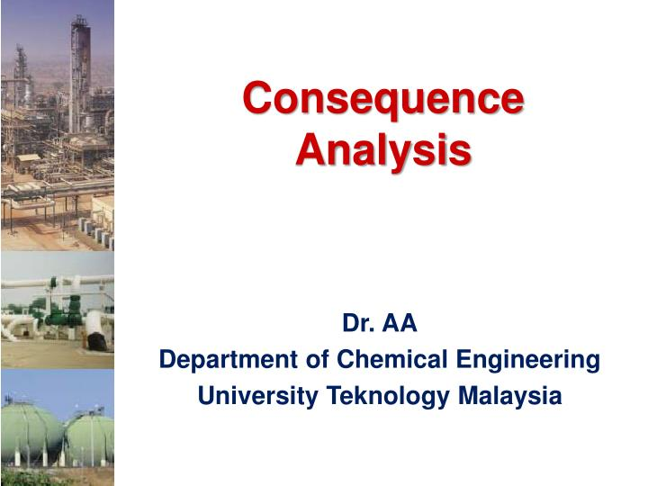 consequence analysis n.