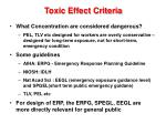 toxic effect criteria1