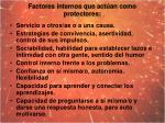 factores internos que act an como protectores