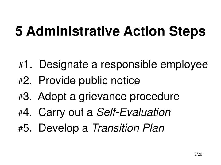 5 administrative action steps
