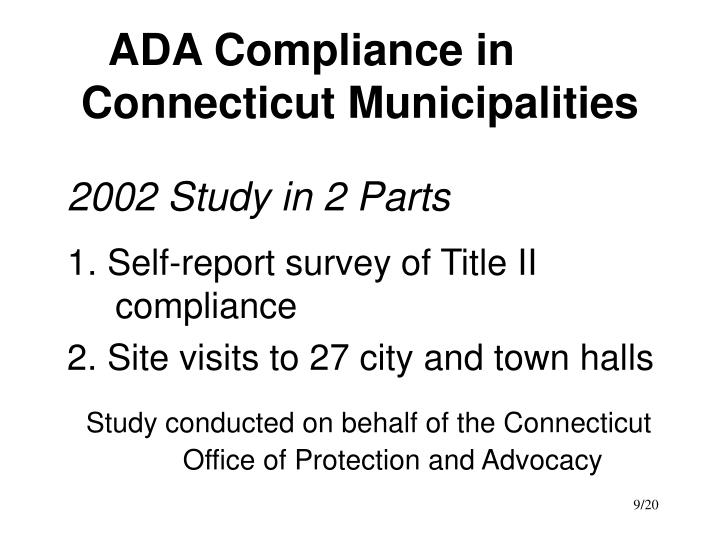 ADA Compliance in		 Connecticut Municipalities