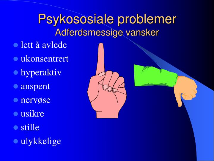Psykososiale problemer