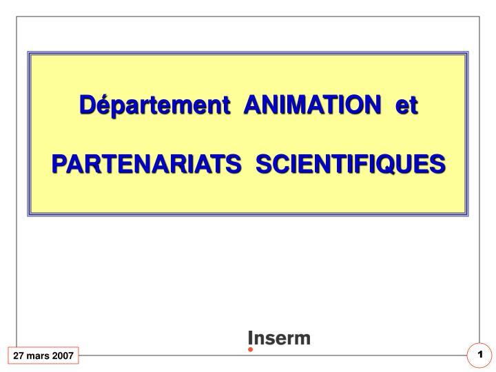 Département  ANIMATION  et