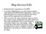 map service axl