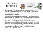 server client environment