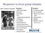 responses to focus group stimulus1