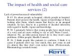 the impact of health and social care services 2