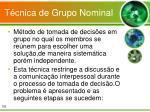 t cnica de grupo nominal