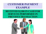 customer payment example