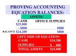 proving accounting equation balances
