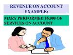 revenue on account example