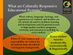 what are culturally responsive educational systems