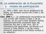b la celebraci n de la eucarist a y modos de participaci n