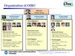 organization of oirc