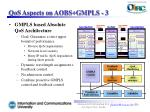 qos aspects on aobs gmpls 3