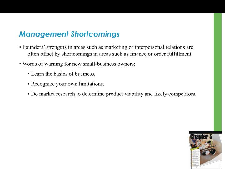 Management Shortcomings