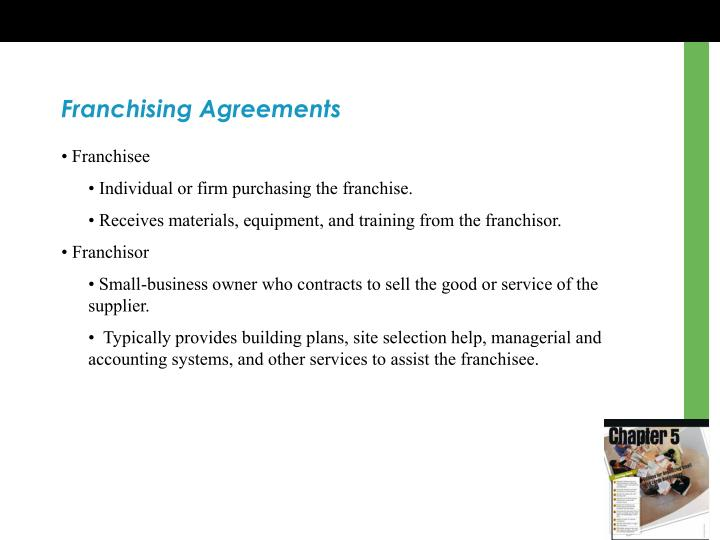 Franchising Agreements