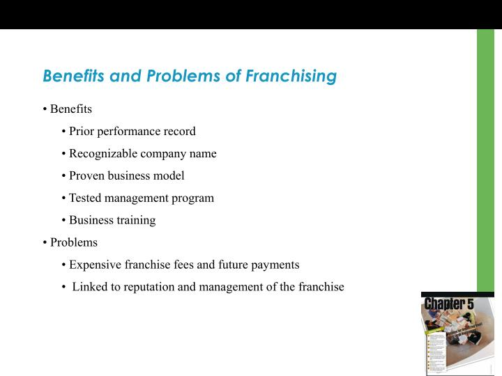 Benefits and Problems of Franchising