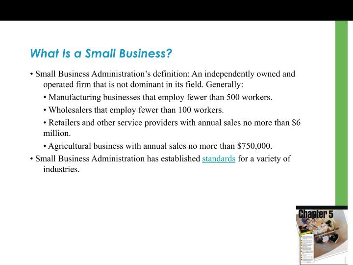 What Is a Small Business?