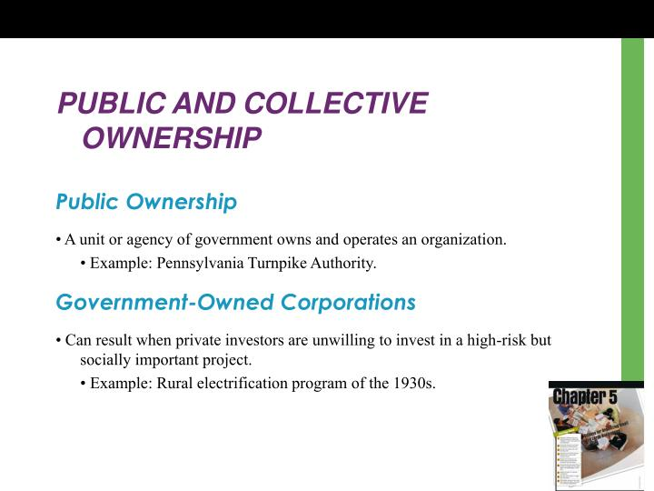 PUBLIC AND COLLECTIVE OWNERSHIP