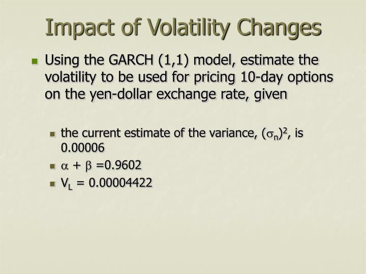 Impact of Volatility Changes