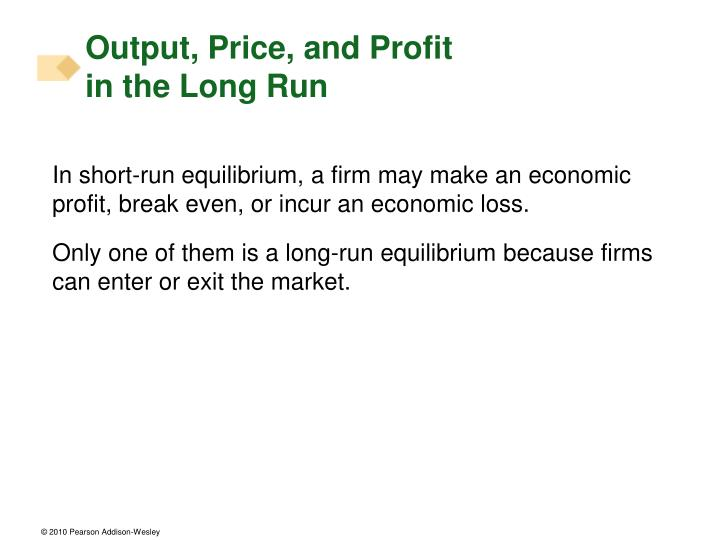 Output, Price, and Profit