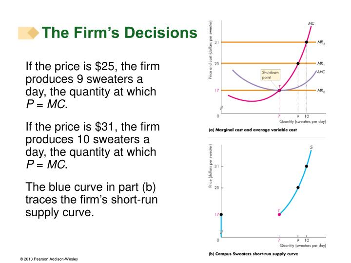 The Firm's Decisions