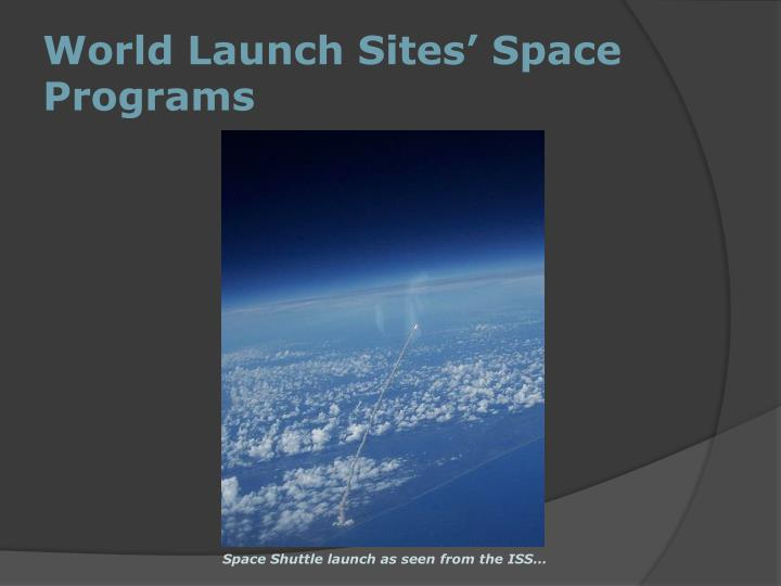 World Launch Sites' Space Programs
